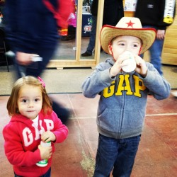 These two cuties stopped for some free milk at the Mid Atlantic Dairy Association booth.